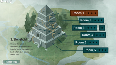 Curse Reverse screenshot showing the different rooms within a single location.