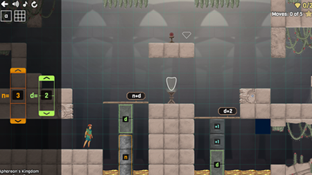 Curse Reverse screenshot showing how to adjust the height of pillars by toggling a sliding bar.